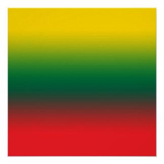 Steigungsflagge von Litauen-Farben Poster