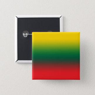 Steigungsflagge von Litauen-Farben Quadratischer Button 5,1 Cm
