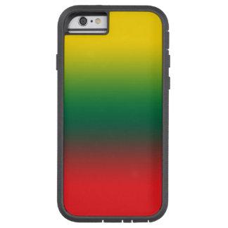 Steigungsflagge von Litauen-Farben Tough Xtreme iPhone 6 Hülle