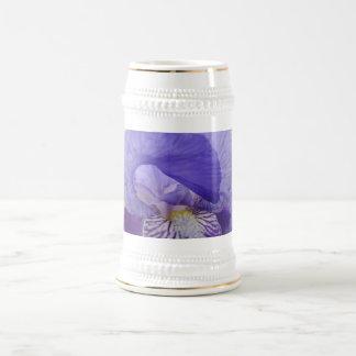 Stein-Geschenke lila Iris-Blumen-Blumeniris Bierkrug