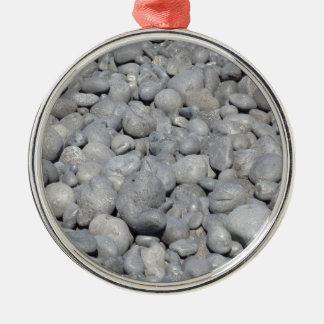 Stein Rundes Silberfarbenes Ornament