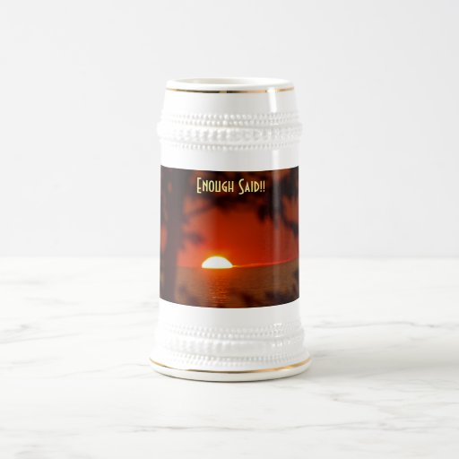 Stein-Sonnenuntergang Kaffee Tassen
