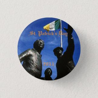 Stein, St Patrick Tag, Syrakus-Iren 2011 Runder Button 2,5 Cm