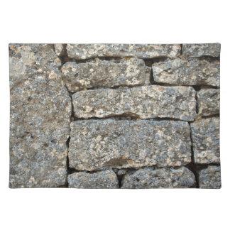 SteinBacksteinmauer Tisch Sets