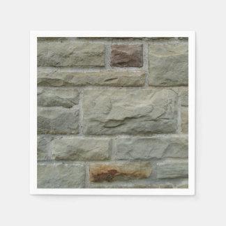 Steinblock-Wand Papierserviette