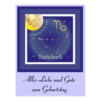 Steinbock 22. Dezember bis 20. Januar Postkarte