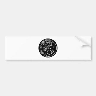 Steinbock-Horoskop-Tierkreis-Astrologie-Zeichen Autoaufkleber