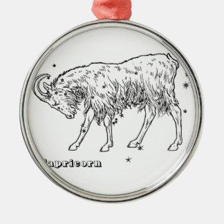 Steinbock Silbernes Ornament