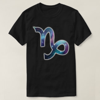 Steinbock-Symbol-Shirt - Schwarzes T-Shirt