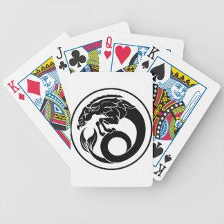 Steinbock-Tierkreis-Horoskop-Zeichen Bicycle Spielkarten