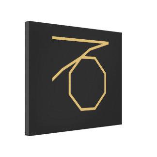 Steinbock-Tierkreis-Zeichen grundlegend Leinwanddruck