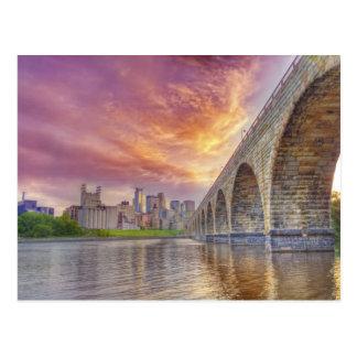 Steinbogen-Brücke Postkarte