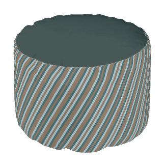 Steinbruch-aquamarines Mod-wechselnde Streifen Runder Sitzpuff