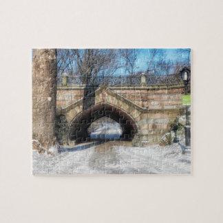 Steinbrücke - Central Park im Winter Puzzle