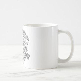 Steinder drache-Emblem des Philosophen Kaffeetasse