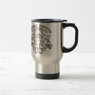 Steinder drache-Emblem des Philosophen Reisebecher