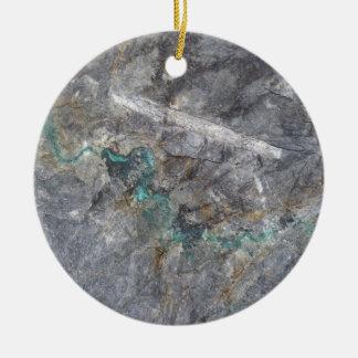 Steindesign mit Silbererzader Rundes Keramik Ornament