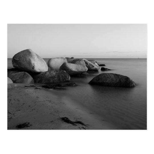 Steine am Meer Postkarte