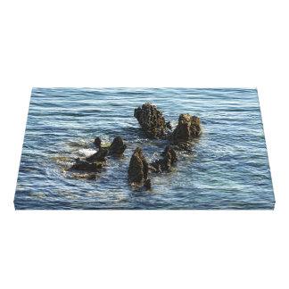 steine im meer gespannte galerie drucke