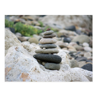 Steine Zen im Strand von Almeria Postkarte
