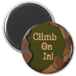 Steinfelsen fertigen besonders an runder magnet 5,1 cm