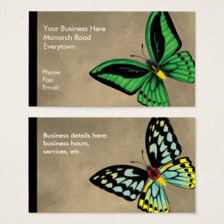 Steinhaufen Birdwing Schmetterling dorsal und Visitenkarte