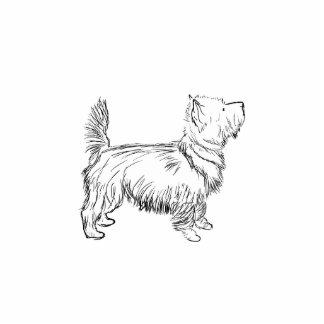 Steinhaufen Terrier Acryl Ausschnitte