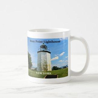 Steiniger Punkt-Leuchtturm, New- YorkTasse Kaffeetasse