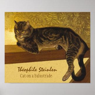 Steinlen Katze auf ein mürrischen Katzen der Poster