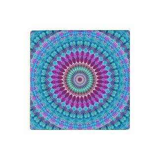 Steinmagnet-geometrische Mandala G382 Steinmagnet