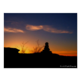 Steinplakat johnny-Sonnenuntergang-16x12 Poster