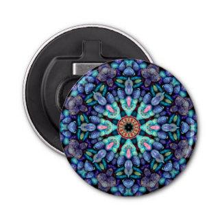 Steinwunder-Kaleidoskop-magnetische Runder Flaschenöffner