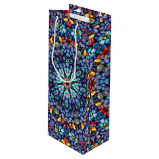Steinwunder-Vintage Kaleidoskop-Wein-Taschen Geschenktüte Für Weinflaschen