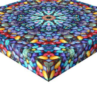 Steinwunder-Vintages Kaleidoskop eingewickelte Leinwanddruck