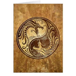 SteinYin Yang Drachen Karte