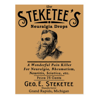 Steketees Neuralgia lässt Grand Rapids, MI fallen Postkarte