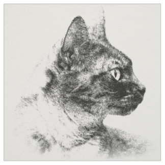 Stella die graue Katze Stoff