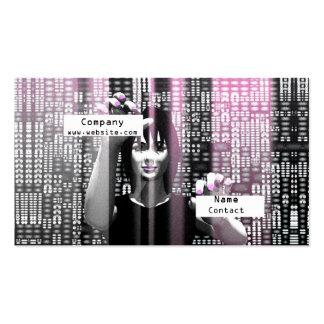 Stellen-Mädchen - Geschäft Visitenkarten