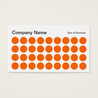Stellen - Orange, Schwarzweiss Visitenkarte