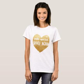 Stellen Sie Amerika-Skate-wieder - T-Shirt