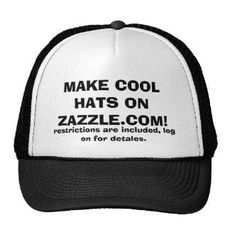 STELLEN SIE COOLE HÜTE AUF ZAZZLE.COM HER! KULT CAP