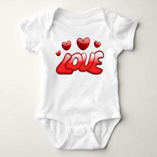 Stellen Sie dar, dass das Liebe-Baby wachsen Baby Strampler