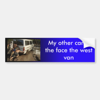 Stellen Sie den WestAutoaufkleber gegenüber Autoaufkleber
