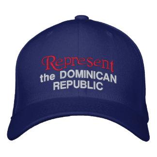 Stellen Sie die Dominikanische Republik-Kappe dar Bestickte Baseballkappe