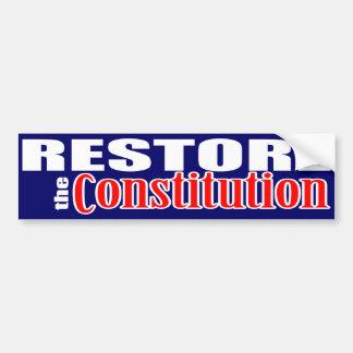 Stellen Sie die Konstitution wieder her Autoaufkleber