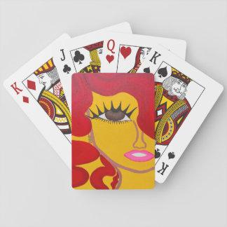 Stellen Sie es kardiert gegenüber Spielkarten
