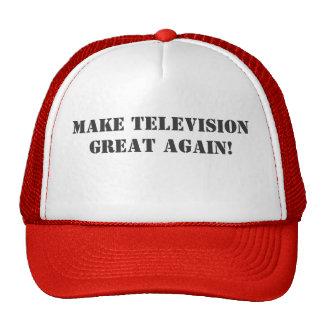Stellen Sie Fernsehen groß wieder her! Retrokultmütze
