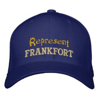Stellen Sie Frankfort-Kappe dar Bestickte Baseballkappe