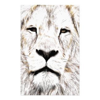 Stellen Sie Gesicht Löwen-Gesicht Face de Lion de Briefpapier