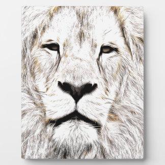 Stellen Sie Gesicht Löwen-Gesicht Face de Lion de Fotoplatte